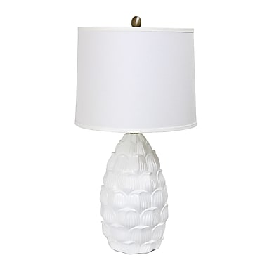 Elegant Designs Incandescent Table Lamp, White (LT3215-WHT)