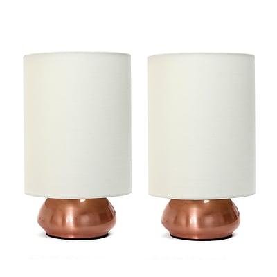 Simple Designs Incandescent Table Lamp Set, Cream (LT2016-CRM-2PK)