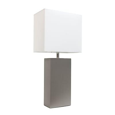 Elegant Designs Incandescent Table Lamp, Grey (LT1025-GRY)