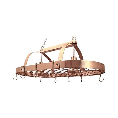Elegant Designs Incandescent 2 Light Pot Rack, Copper (PR1000-CPR)