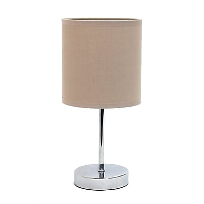 Simple Designs Incandescent Table Lamp, Grey (LT2007-GRY)