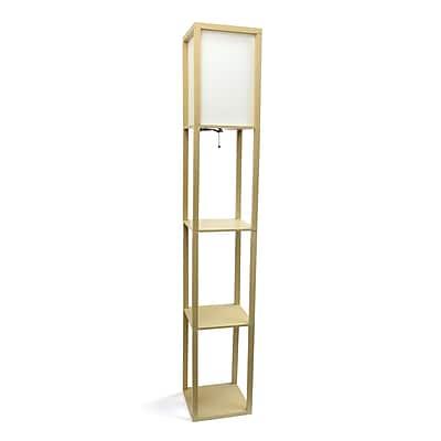 Simple Designs Incandescent Floor Lamp, Tan (LF1014-TAN)