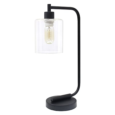 Simple Designs Incandescent Desk Lamp, Black (LD1036-BLK)