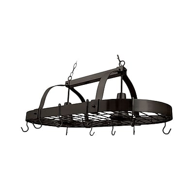 Elegant Designs Incandescent 2 Light Pot Rack, Oil Rubbed Bronze (PR1000-ORB)