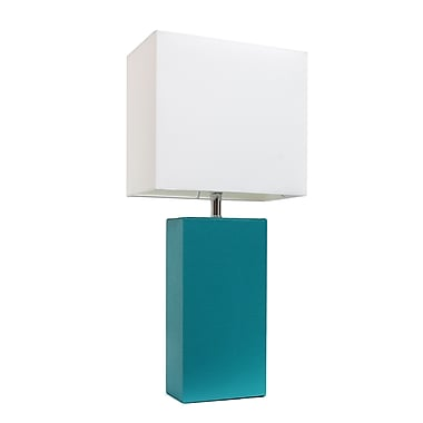 Elegant Designs Incandescent Table Lamp, Teal (LT1025-TEL)