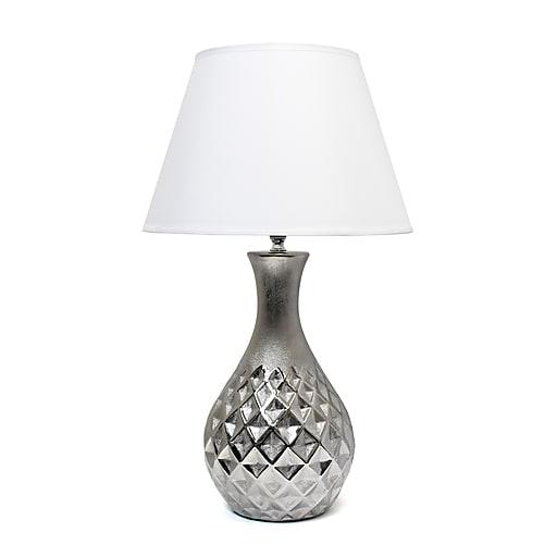 Elegant Designs Incandescent Table Lamp, Metallic Silver (LT2041-MSV)
