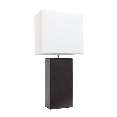 Elegant Designs Incandescent Table Lamp, Brown (LT1025-BWN)