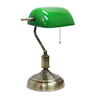 Simple Designs Incandescent Table Lamp, Green (LT3216-GRN)