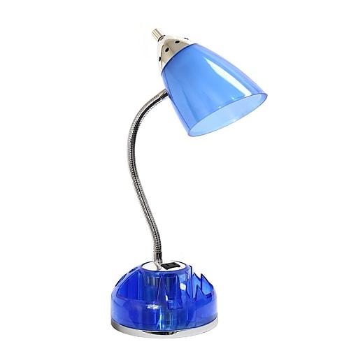 LimeLights Incandescent Desk Lamp, Blue (LD1015-CBL)