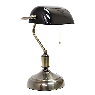 Simple Designs - Lampe de table incandescente, noir (LT3216-BLK)