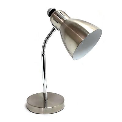 Simple Designs Incandescent Desk Lamp, Brushed Nickel (LD1037-BSN)