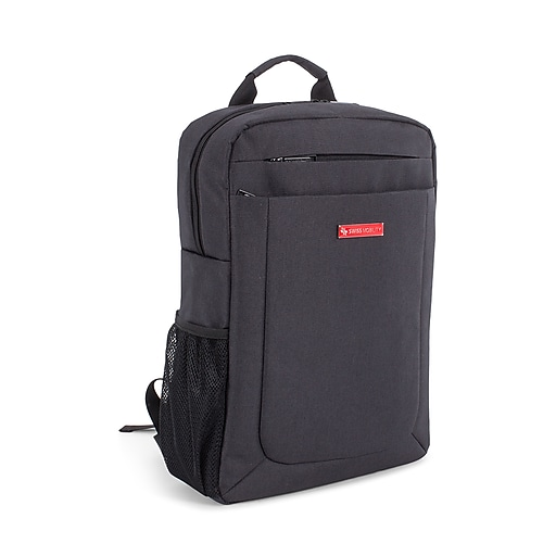 Swiss Mobility Cadence Slim Business Backpack, Polyester, Charcoal (BKP1011SMCH)