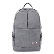 Swiss Mobility Sterling Slim Business Backpack, Polyester, Grey (BKP1066SMGRY)