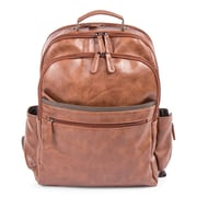 Bugatti Valentino Backpack, Vegan Leather, Cognac (BKP116-COGNAC)
