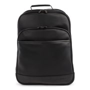 Bugatti Gin & Twill Backpack, Textured Vegan Leather, Black (BKP2018BU-BLACK)