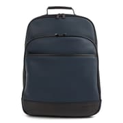 Bugatti Gin & Twill Backpack, Textured Vegan Leather, Navy (BKP2018BU-NAVY)