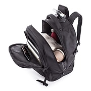 """Swiss Mobility Purpose Overnight Backpack On Wheels, Polyester, Black, 16"""" L x 9"""" W x 12"""" H (BKPW1006SMBK)"""