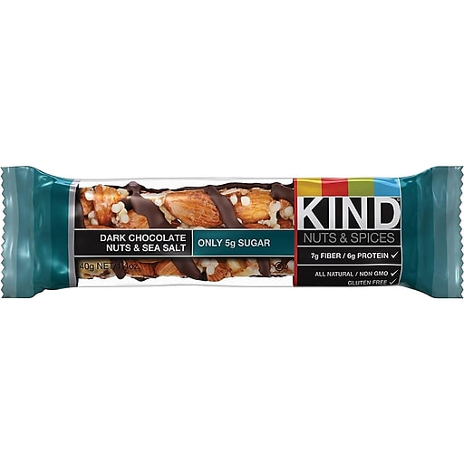 KIND® Bar, Dark Chocolate Nuts & Sea Salt, 1.4 Oz., 12/Box (PHW25795)