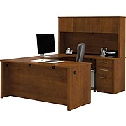 "bestar Embassy 66"" U-Shaped Desk, Tuscany Brown (60857-63)"