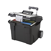 Storex Premium 25% Recycled Mobile File Cart, Letter Size, Black (61507B01C)