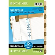 "2020 Day-Timer 5 1/2"" x 8 1/2"" Two Page Per Day Refill Desk Size, 12 Months , January Start, Sandalwood (15551-2001)"