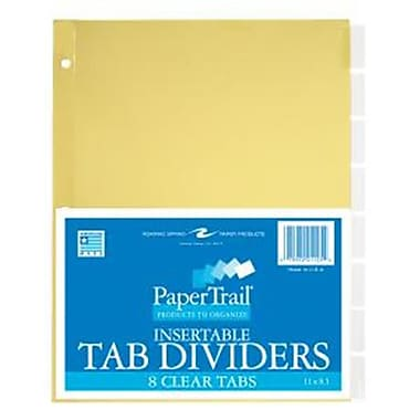 Roaring Spring Paper Products 8 Tab Index Clear (RSPRD034)