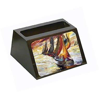 Carolines Treasures Red Sails Sailboat Business Card Holder (CRlT68872)