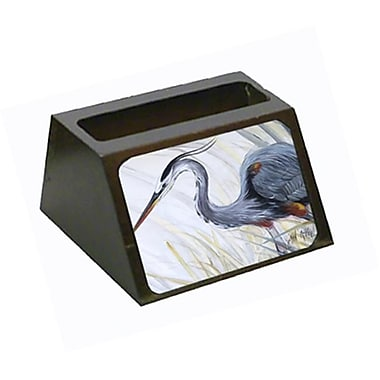 Carolines Treasures Blue Heron Frog Hunting Business Card Holder (CRlT68787)