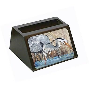 Carolines Treasures Blue Heron In The Reeds Business Card Holder (CRlT68519)
