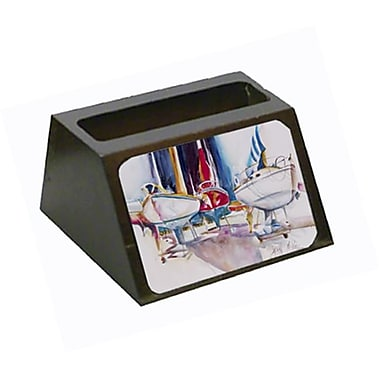 Carolines Treasures Sailboats In Dry Dock Business Card Holder (CRlT68828)