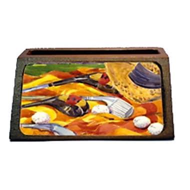 Carolines Treasures Golf Clubs Golfer Decorative Desktop Professional Wooden Business Card Holder (CRlT16349)