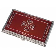 Visol Visol Red lacquer with Embedded Crystals Business Card Case for Women (VISOl2777)