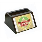 Carolines Treasures Baseball Rules Decorative Desktop Professional Wooden Business Card Holder (CRlT56060)
