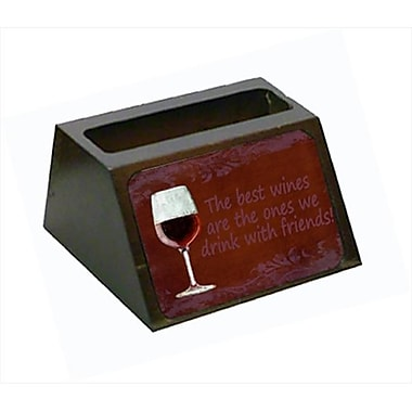 Carolines Treasures The Best Wines Are The Ones We Drink With Friends Business Card Holder (CRlT56051)