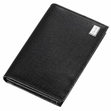Caseti Caseti lilah Black leather Weave Pattern Business Card Holder (VISOl3007)