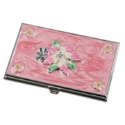 Visol Visol Tanisha Pink Flower with Crystals Womens Business Card Case (VISOl2779)