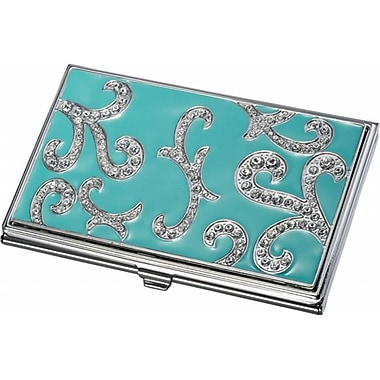 Visol Visol Rana Turquoise and Austrian Crystals Business Card Case (VISOl2776)