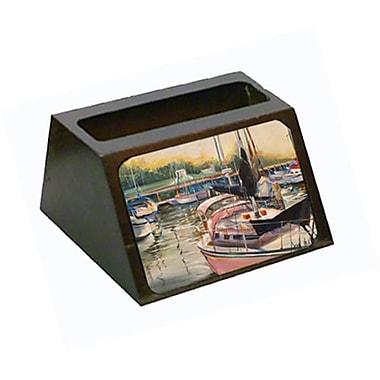 Carolines Treasures Black Sails Sailboat Business Card Holder (CRlT68814)