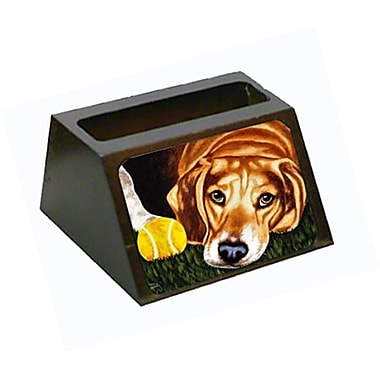 Carolines Treasures Have Ball Will Travel Beagle Business Card Holder (CRlT88135)