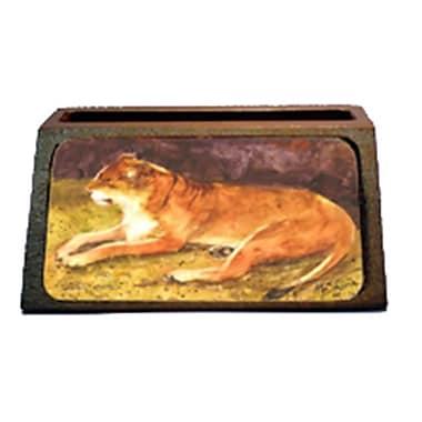 Carolines Treasures lion Decorative Desktop Professional Wooden Business Card Holder (CRlT16514)