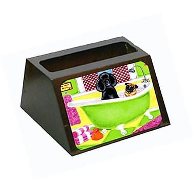 Carolines Treasures Tub for Two with Poodle and Pug Business Card Holder (CRlT88060)