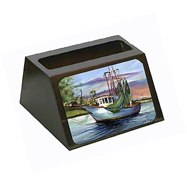 Carolines Treasures Jeannie Shrimp Boat Business Card Holder (CRlT68867)