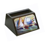 Carolines Treasures Sailboat Race In Dauphin Island Business Card Holder (CRlT68830)