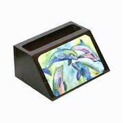 Carolines Treasures Dolphin Decorative Desktop Professional Wooden Business Card Holder (CRlT13551)