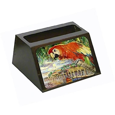 Carolines Treasures Red Parrot At lulus Business Card Holder (CRlT68998)