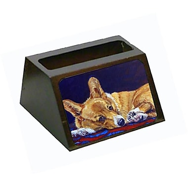 Carolines Treasures Corgi Blue lonesome Business Card Holder (CRlT79193)