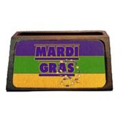 Carolines Treasures Mardi Gras Decorative Desktop Professional Wooden Business Card Holder (CRlT16447)