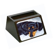 Carolines Treasures Black and Tan Doxie Dachshund Business Card Holder (CRlT87775)