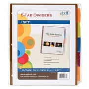 Paris Business Products DocIt Binder Index Divider 5 Tab 8.5x11 Asst (DGC11932)