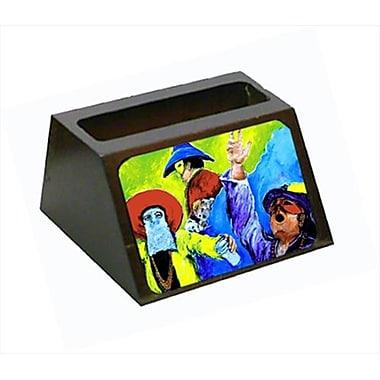 Carolines Treasures Mardi Gras Decorative Desktop Professional Wooden Business Card Holder (CRlT55641)